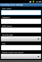 Samsung S6500D Galaxy Mini 2 - E-mail - Manual configuration - Step 7