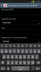 Samsung N7100 Galaxy Note II - E-mail - Configuration manuelle - Étape 7