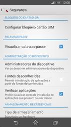 Sony Xperia M2 - Segurança - Como ativar o código PIN do cartão de telemóvel -  5