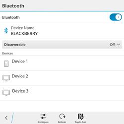 BlackBerry Passport - WiFi and Bluetooth - Setup Bluetooth Pairing - Step 7