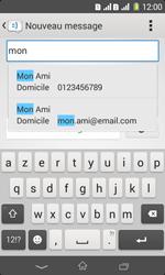 Sony Xpéria E1 Dual - Contact, Appels, SMS/MMS - Envoyer un SMS - Étape 6
