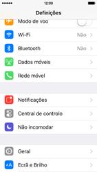 Apple iPhone 5s iOS 9 - Internet no telemóvel - Partilhar os dados móveis -  3