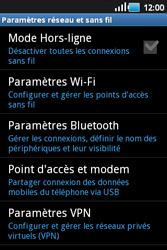 Samsung S5660 Galaxy Gio - Wifi - configuration manuelle - Étape 4