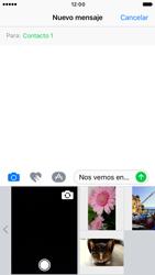 Apple iPhone 6 iOS 10 - Mensajería - Escribir y enviar un mensaje multimedia - Paso 10