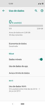 Motorola One Vision - Rede móvel - Como definir um aviso e limite de uso de dados - Etapa 6