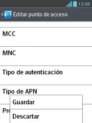 LG Optimus L3 II - Mensajería - Configurar el equipo para mensajes multimedia - Paso 15