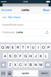 Apple iPhone 4S iOS 8 - E-mail - hoe te versturen - Stap 7