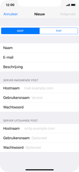 Apple iPhone X - E-mail - Account instellen (IMAP zonder SMTP-verificatie) - Stap 10