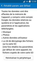 Samsung G388F Galaxy Xcover 3 - Appareil - Réinitialisation de la configuration d