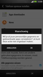 HTC One - Instellingen aanpassen - Fabrieksinstellingen terugzetten - Stap 7