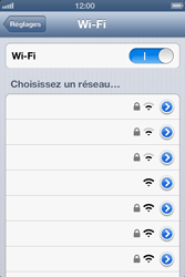 Apple iPhone 4 - iOS 6 - Wifi - configuration manuelle - Étape 4