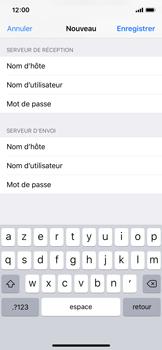 Apple iPhone XS - E-mail - Configurer l