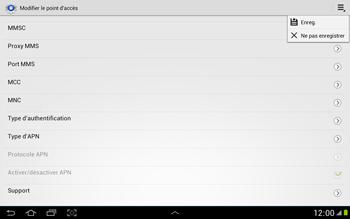Samsung N8000 Galaxy Note 10-1 - MMS - Configuration manuelle - Étape 13