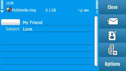 Nokia N97 - MMS - Sending pictures - Step 11