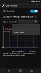 Sony Xperia Z - Internet - Ver uso de datos - Paso 6