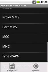 Samsung I5700 Galaxy Spica - Internet - Configuration manuelle - Étape 11