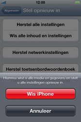 Apple iPhone 4 S - Toestel - Fabrieksinstellingen terugzetten - Stap 7