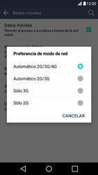 LG K10 4G - Red - Seleccionar el tipo de red - Paso 7