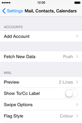 Apple iPhone 4s iOS 8 - Email - Manual configuration POP3 with SMTP verification - Step 4