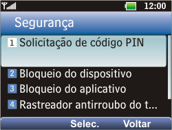 LG C365 - Segurança - Como ativar e desativar o código PIN do seu celular - Etapa 6