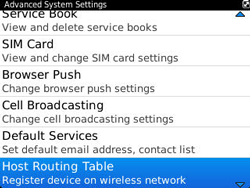 BlackBerry 9320 Curve - Settings - Configuration message received - Step 6