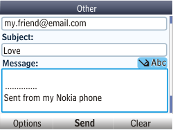 Nokia Asha 201 - Email - Sending an email message - Step 11