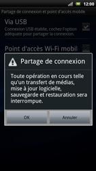Sony Ericsson Xpéria Arc - Internet et connexion - Utiliser le mode modem par USB - Étape 8