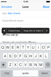 Apple iPhone 4 met iOS 7 - E-mail - Hoe te versturen - Stap 10