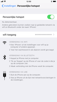 Apple iPhone 6 Plus iOS 11 - WiFi - WiFi hotspot instellen - Stap 8