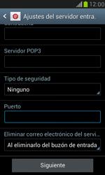 Samsung Galaxy S3 Mini - E-mail - Configurar correo electrónico - Paso 10
