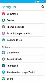 Asus Zenfone Go - Funções básicas - Como restaurar as configurações originais do seu aparelho - Etapa 4