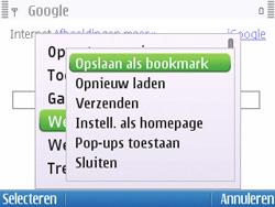 Nokia E5-00 - Internet - Hoe te internetten - Stap 6