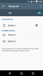 Sony Xperia XA - Android Nougat - WiFi and Bluetooth - Setup Bluetooth Pairing - Step 8