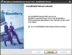 BlackBerry 9300 Curve 3G - Software - Update installeren via PC - Stap 12