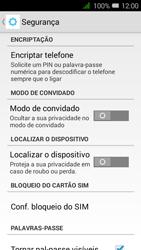 Alcatel Pixi 3 - Segurança - Como ativar o código PIN do cartão de telemóvel -  5