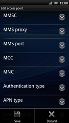 Sony Ericsson Xperia Neo V - Mms - Manual configuration - Step 13