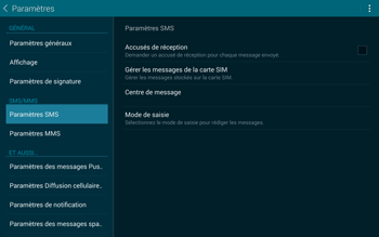 Samsung T805 Galaxy Tab S - SMS - Configuration manuelle - Étape 9