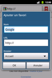 Samsung S5690 Galaxy Xcover - Internet - Navigation sur internet - Étape 5