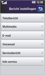 LG GD900 Crystal - Voicemail - Handmatig instellen - Stap 4