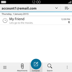 BlackBerry Classic - Email - Sending an email message - Step 17