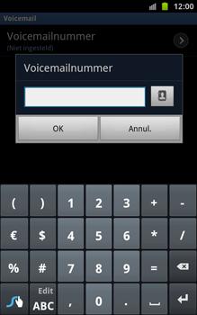 Samsung N7000 Galaxy Note - Voicemail - handmatig instellen - Stap 7