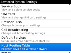 BlackBerry 9900 Bold Touch - Settings - Configuration message received - Step 6