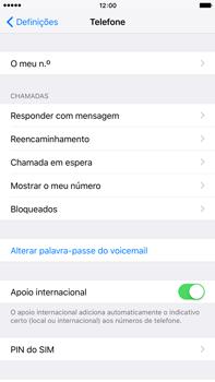 Apple iPhone 6s Plus - Segurança - Como ativar o código PIN do cartão de telemóvel -  4