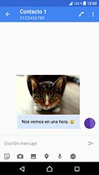 Sony Xperia XZ - Android Nougat - Mensajería - Escribir y enviar un mensaje multimedia - Paso 13