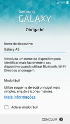 Samsung Galaxy A5 - Primeiros passos - Como ligar o telemóvel pela primeira vez -  16