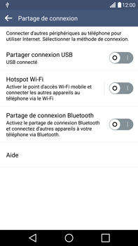 LG G4 - Internet et connexion - Utiliser le mode modem par USB - Étape 6