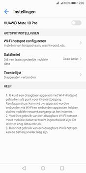 Huawei Mate 10 Pro Dual-SIM (Model BLA-L29) - WiFi - Mobiele hotspot instellen - Stap 6