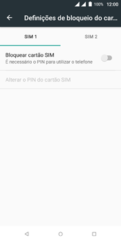 Wiko View Dual SIM - Segurança - Como ativar o código PIN do cartão de telemóvel -  6