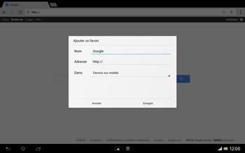 Sony SGP321 Xperia Tablet Z LTE - Internet - navigation sur Internet - Étape 7