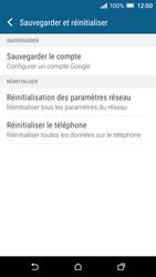 HTC One A9 - Aller plus loin - Restaurer les paramètres d'usines - Étape 5